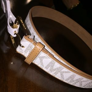 White Michael Kors Women's Belt Size M